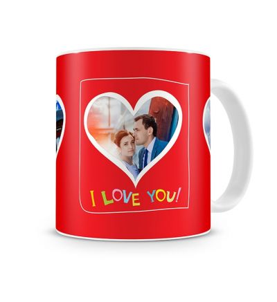 Message Mugs Valentine Three Hearts