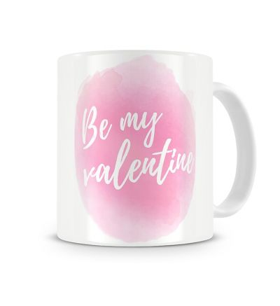 Message Mugs Valentine Water Colours