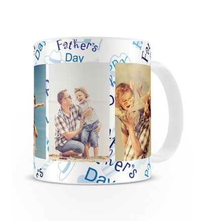 Metallic Mugs Fathersday Blue and White Hats