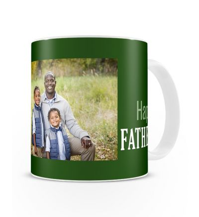 Metallic Mugs Fathersday Green