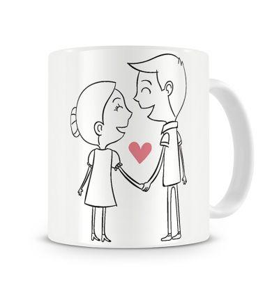 Metallic Mugs In Love Celebrating Each Other