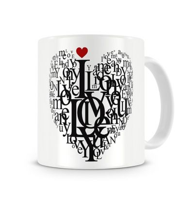 Metallic Mugs Love Words