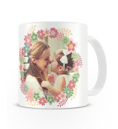 Metallic Mugs Mothersday Flowers Pink