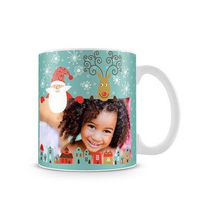 Metallic Mugs Santa Coming To Town