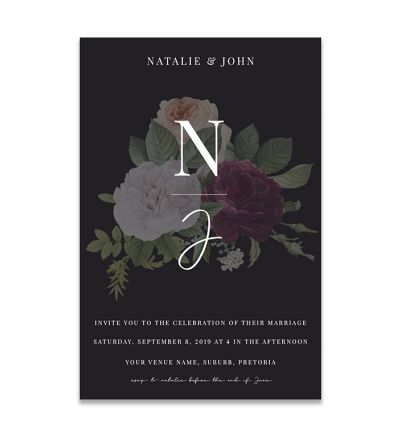 Magnets - Invite - Floral