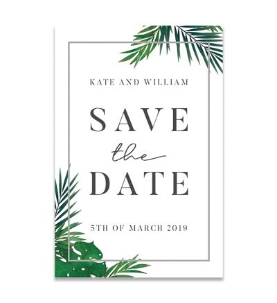 Magnets - Save The Date - Tropical - P