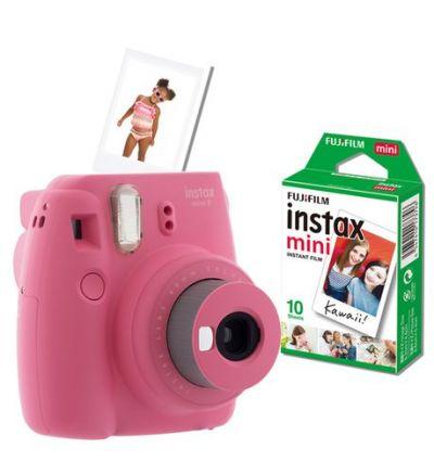 Fujifilm Instax Mini 9 Value Bundle - Flamingo Pink