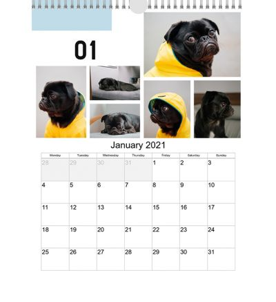 Portrait Calendar Modern Collage