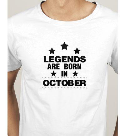 Novelty Mens T Shirts October