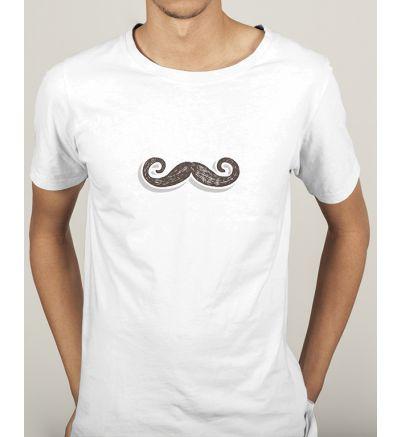 Novelty Mens T Shirts Moustache