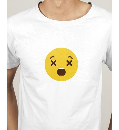Novelty Mens T Shirts Dizzy Face