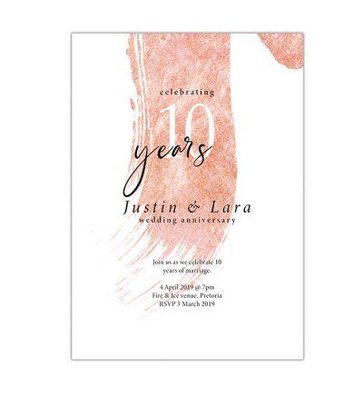 Parties - Anniversary - Printed Cards - Elegant