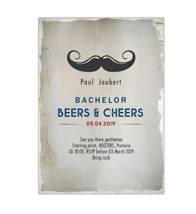 Parties - Bachelor's - Printed Cards - Beers & Cheers