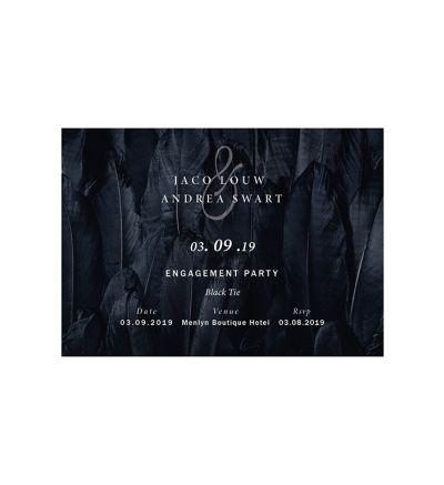 Parties - Engagement - Printed Cards - Black Tie