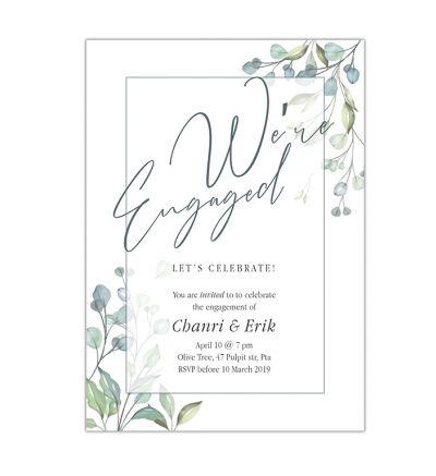 Parties - Engagement - Printed Cards - Flower Elegance