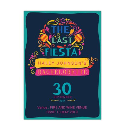 Parties - Bachelorette - Printed Cards - Fiesta