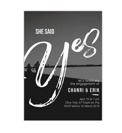 Parties - Engagement - Printed Cards - Modern Vintage