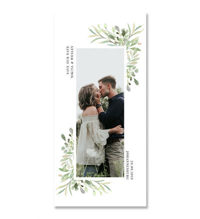 Printed Cards - DL Floral - Set of 6