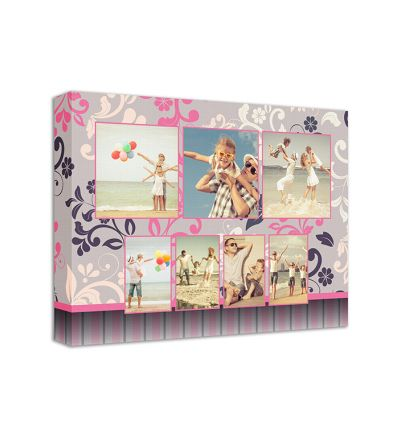 Pink Flowers Canvas Print And Stretch Rectangle
