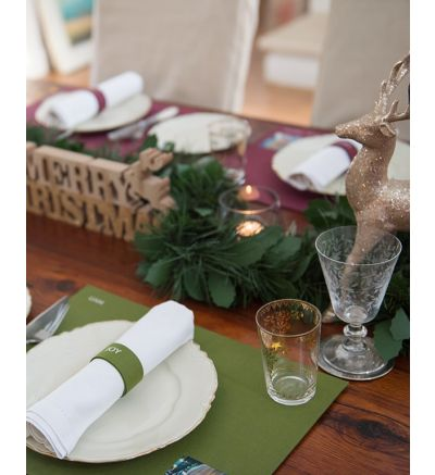 Placemats - English - 4 Green