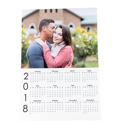 A2 Poster Calendar White 2020