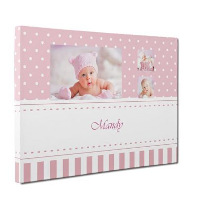 Polka Dot Pink Canvas Print And Stretch