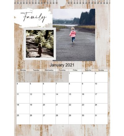 Portrait Calendar Rustic Farmhouse