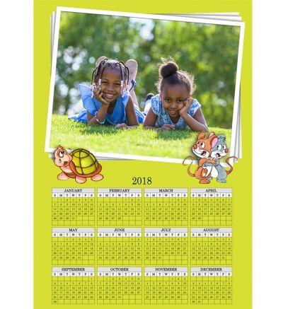 1 Page Calendar Tortoise