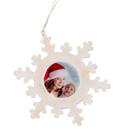 Christmas Tree Decor Snowflake Circle White