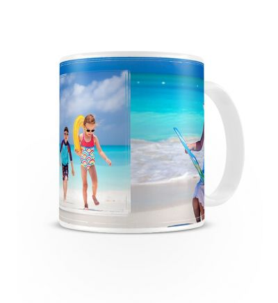 Standard Mug White Double Image OverLay