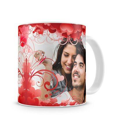 Standard Mug White Heart Collage
