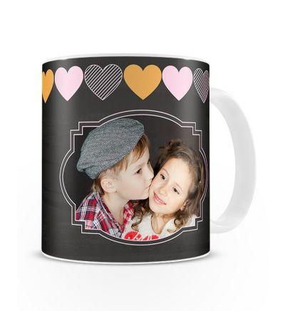 Standard Mug White Little Hearts