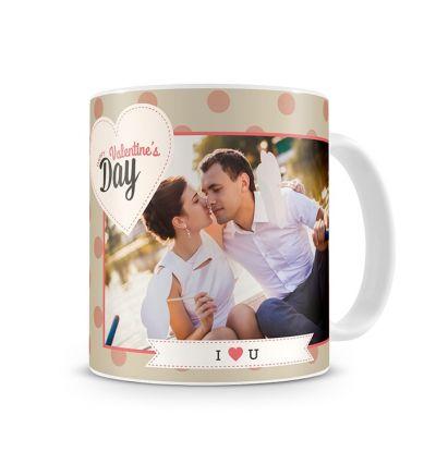 Standard Mug White Valentine Pink