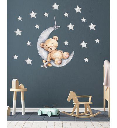 Teddy Moon and Stars