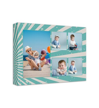 Turquoise Raise Canvas Print And Stretch Rectangle