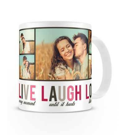 Two Tone Mug Live Laugh Love