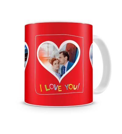 Two Tone Mug Valentine Three Hearts