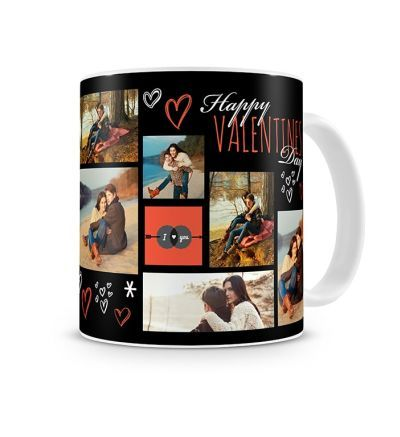 Two Tone Mug Valentines Hearts