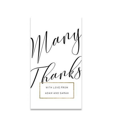 Thank you Cards - 5X9 - Elegant - Set of 20
