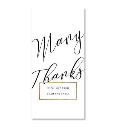 Thank you Cards - DL - Elegant - Set of 6
