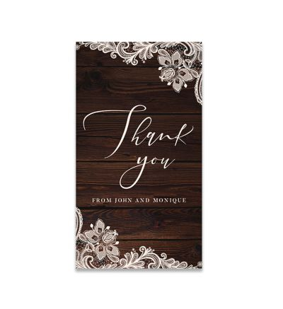 Thank you Cards - 5X9 - Lace & Patterns - Set of 20