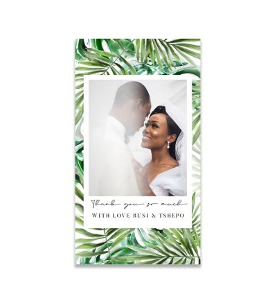 Thank you Cards - 5X9 - Tropical - Set of 20