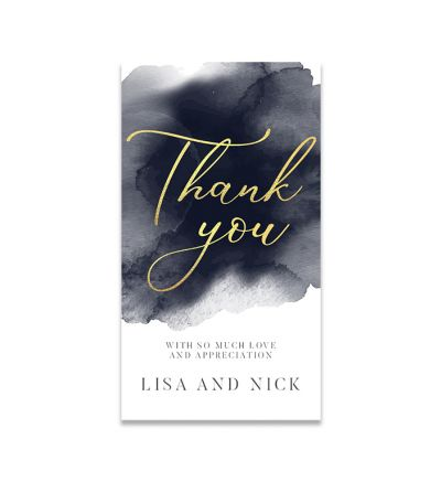 Thank you Cards - 5X9 - Watercolour - Set of 20