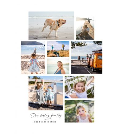 Canvas Print and Stretch Rectangle - Our Loving Family