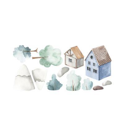 Watercolour Village