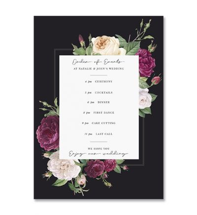 Programmes - A5 - Floral - Set of 8