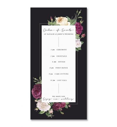 Programmes - DL - Floral - Set of 6