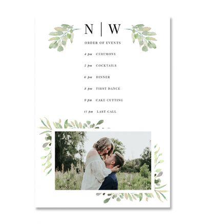 Programmes - A5 - Floral - Set of 8
