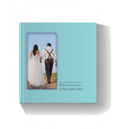 Wedding Book Blue Photo Book