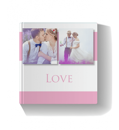 Wedding Book Pink Photo Book